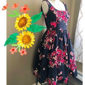 Anthropologie Donna Morgan Moonlight Garden Dress